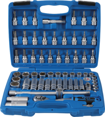 Socket Set, Hexagon | 10 mm (3/8) drive | 61 pcs.