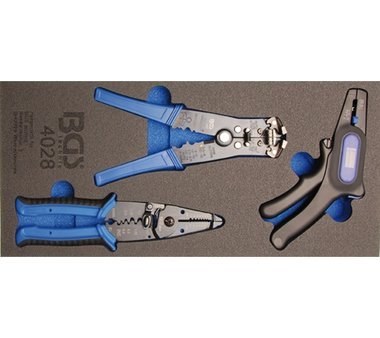 Tool Tray 1/3: Wire Stripping Pliers 3 pcs