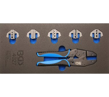 Tool Tray 1/3: Crimping Pliers Set with 5 Pairs of Pressing Jaws 11 pcs