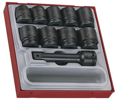 Impact socket set 3/4 - 16 pcs