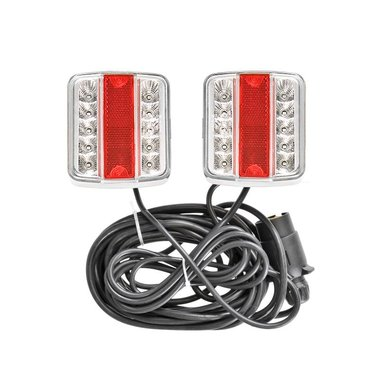 Trailer lights LED with magnets 7,5+2,5M cable