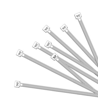 Cable ties 380x4,7mm 1000 pieces white