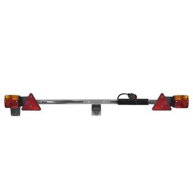 Trailerboard metal 140-200cm telescopic + 12M cable