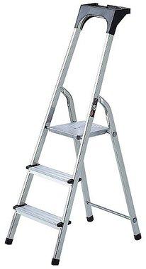 Aluminium household ladder with tool tray 3 rungs Platform height 0.54m