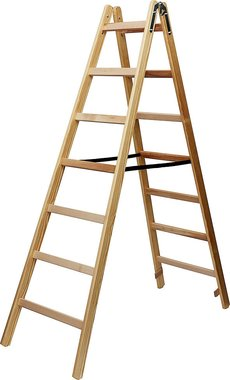 Wooden ladder 2x7 rungs Height of the frame ladder 1,84m