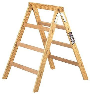 Wooden stepladder + trestle HAB 150