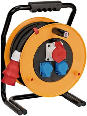 Brobusta® CEE 1 IP44 cable reel for industry/construction 30m