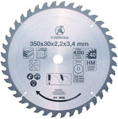 Carbide Tipped Circular Saw Blade, Ø 350 mm