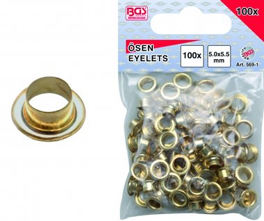 100-piece Eyelets 5.0 mm