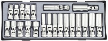 3/8 Universal socket set 22pc