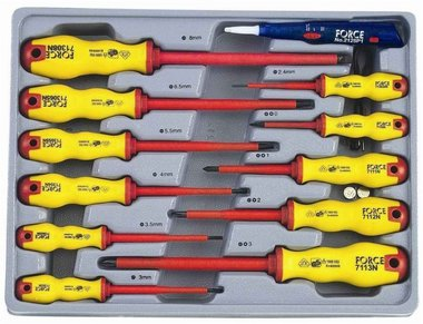 Insulated screwdriver set 12pc