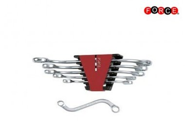 S-form ring wrench set 6pc