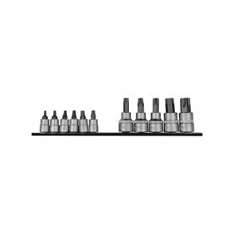 1/4 & 3/8 Star socket bit set 11pc