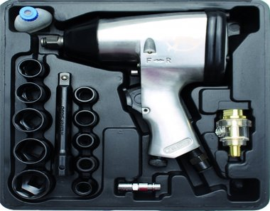 16-piece 1/2 Air Impact Wrench Hobby Kit, 320 Nm