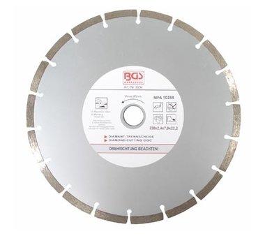 Diamond Cutting Disc, dry Cut, segmented, 230 mm