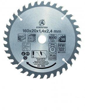 Carbide Tipped Circular Saw Blade, Diameter 160 mm, 36 tooth