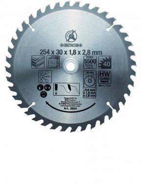 Carbide Tipped Circular Saw Blade, Diameter 254 mm, 40 tooth
