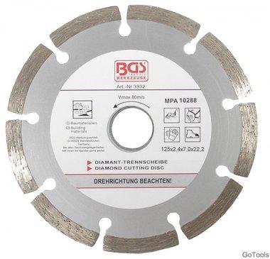 Diamond Cutting Disc, dry Cut, segmented, 125 mm