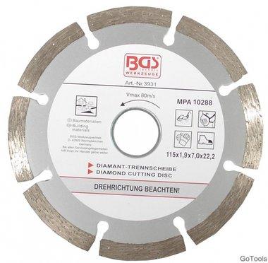 Diamond Cutting Disc, dry Cut, segmented, 115 mm