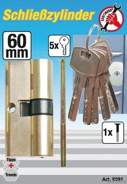 60 mm Brass Cylinder Lock