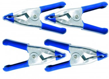 4-piece Mini Metal Clamp Set, 50 mm