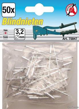 Blind Rivets, 3.2 mm, 50 Pieces