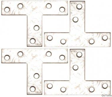 4-piece Steel Bracket Kit, 70x50x16 mm