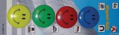4-piece Magnet Set Smile, Ø 40 mm