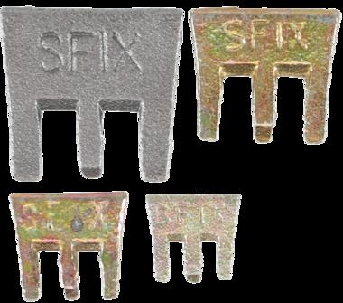 S-Fix Claws Wedges Set, 4 pcs.
