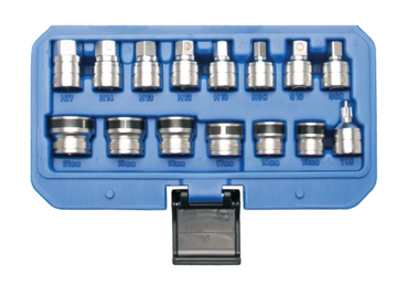 15-piece Magnetic Sockets for Oil Drain Screws