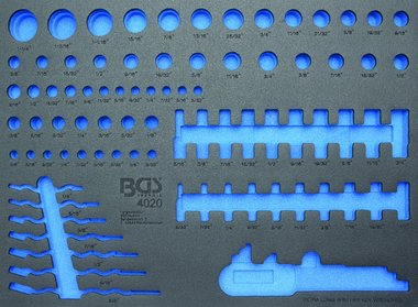 3/3 Tool Tray for Workshop Trolleys, empty: for Sockets and Combination Spanner