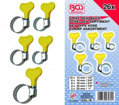 Handle Hose Clamps Assortment, 26 pcs.