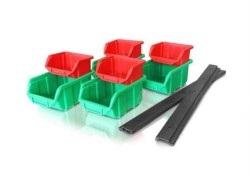 Storage system wall holder + trays