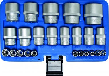 24-piece Socket Set, Inch Sizes