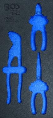 1/3 Tool Tray (408x189x32 mm), empty, for 3-piece Pliers Set