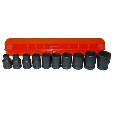 1/2 Impact socket set SAE 10pc