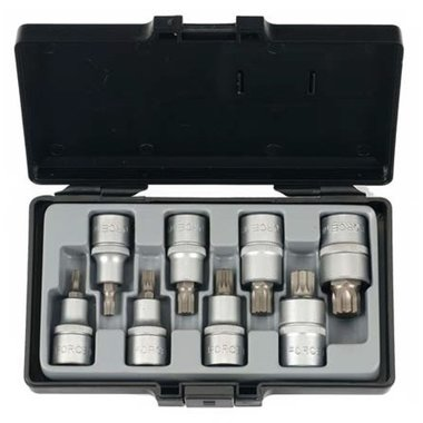 1/2 Spline socket bit set 8pc