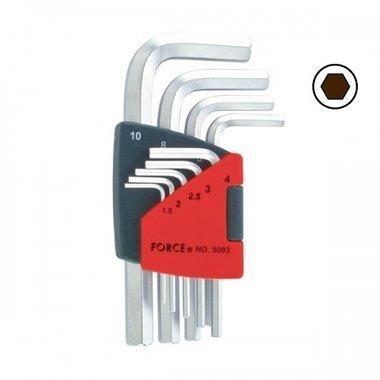 Hex key set SAE 9pc