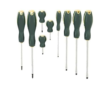 Screwdriver set Slotted & Phillips 9pc