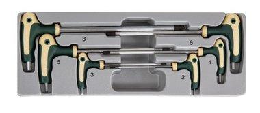 Hex ball point grip key set 6pc