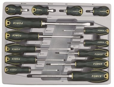 Screwdriver Slotted & Pozidriv set 14pc