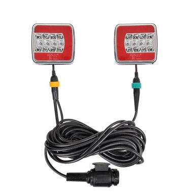 Trailer lights LED 4F with magnets 7,5+2,5M cable 13P.