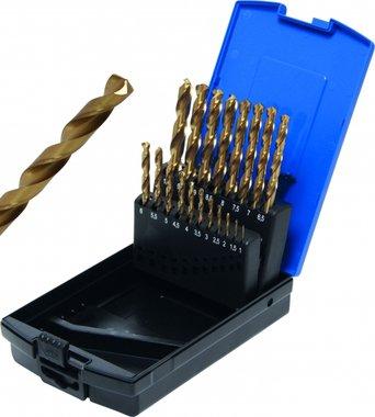 Twist Drill HSS G titanium nitrated 1 - 10 mm 19 pcs