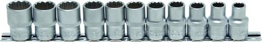 11-piece Socket Set, 1/2, 12-pt., 10 - 21 mm