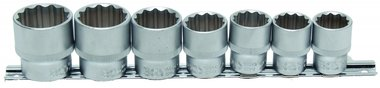 7-piece Socket Set, 1/2, 12-pt., 20 - 32 mm