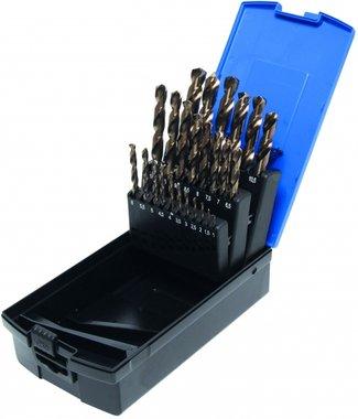26-piece Twist Drill Set, HSS-G M35 Cobalt Steel, 1-13 mm
