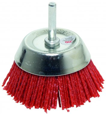 Nylon Cup Brush, 75 mm, 6 mm Shaft
