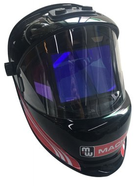 Panoramic visor with 180 ° wide field of view on the environment.