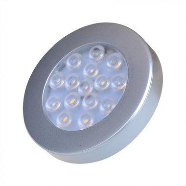 Surface mounted spotlight 15-leds 12V 200lm Ø70x12mm