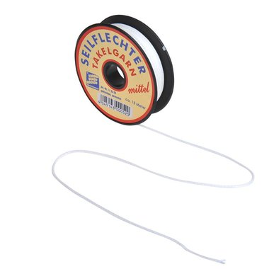 Whipping twine, medium, waxed, 15m, white